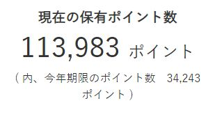 JINの保有するポイント、現在11万超え (還元率9割りのキャッシュバック等と交換可能)