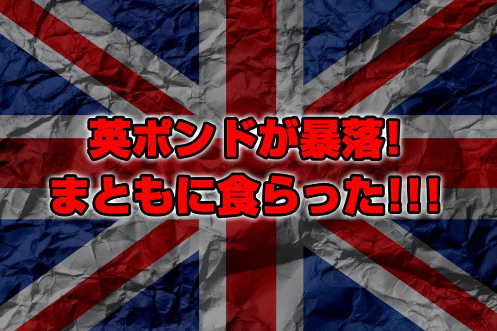 英ポンドが暴落!まともに食らって-1300万円!!!