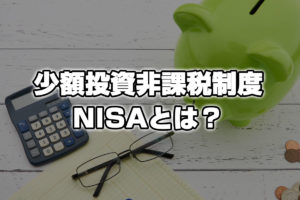 少額投資非課税制度:NISA(ニーサ)とは?選び方・おすすめの買い方